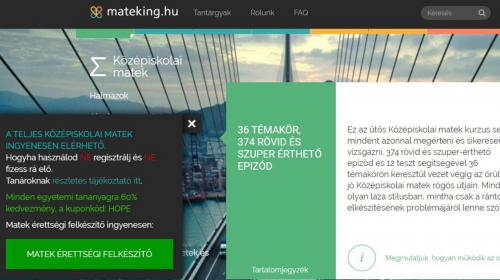 Mateking – Ingyenes érettségi felkészítő matekból
