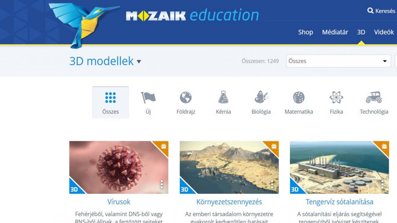 3D modellek és oktató videók – Mozaweb