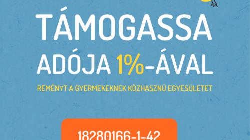 Támogasd adód 1%-ával egyesületünk munkáját